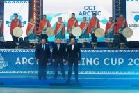 «Огненное шоу» в честь российских чемпионок прошло в Дудинке
