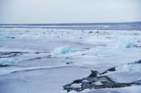 Кромка льда на Енисее в 700 километрах от Дудинки