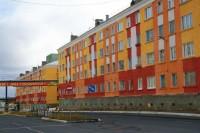 В Дудинке завершена окраска фасадов жилых домов