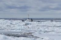 В Дудинке наблюдаются периодические подвижки льда