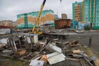 Дудинку продолжают очищать от незаконных строений
