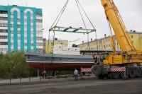 Ветеран флота занял почетное место на площади Портовиков