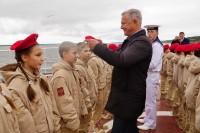 Юные дудинцы принесли клятву юнармейца на военном корабле