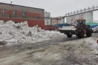 Уборка снега продолжается