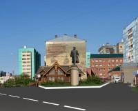 Эскизное предложение. Установка памятника «Основателю Дудинки» в районе ул. Щорса,29