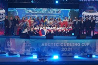 В Дудинке состоялась церемония открытия международного турнира по керлингу