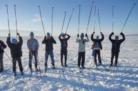 В посёлке Хантайское Озеро соревновались лыжники