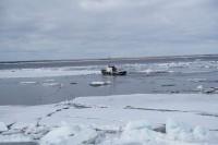 В районе Дудинки — ледоход