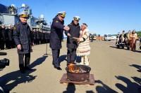 В Дудинке приветствовали моряков Северного флота