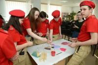 Дудинские школьники изготовили баннер ко Дню Победы