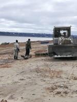 В Левинских Песках очистили береговую зону
