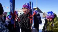 В поселках состоялись массовые лыжные забеги