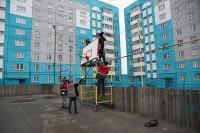 Спортивную площадку на Бегичева подготовили к лету