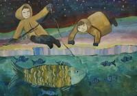 Работы юных дудинских художников показали в Санкт-Петербурге