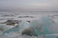 Кромка льда в 1246 км от Дудинки