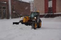 В новогодние каникулы снегоочистка в Дудинке не прекращалась