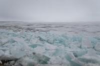 Кромка льда на Енисее в 1900 километрах от Дудинки
