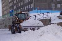 Дворы Дудинки очистят от снега по графику
