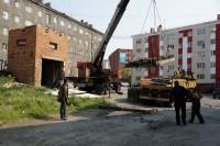 В Дудинке демонтируют еще шесть мусоросборников